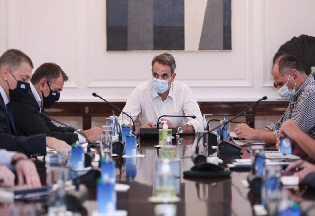 Ευρεία σύσκεψη στο Μαξίμου για μέτρα στήριξης των πυροπλήκτων