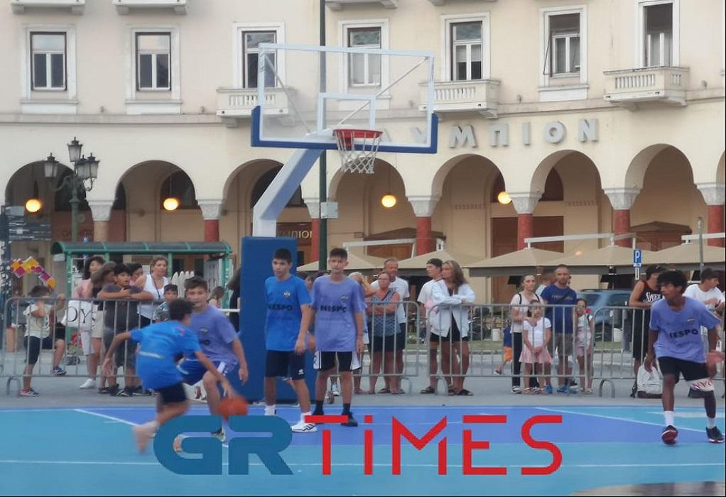 Θεσσαλονίκη: Ξεκίνησε το τουρνουά μπάσκετ στην καρδιά της πόλης (ΦΩΤΟ-VIDEO)