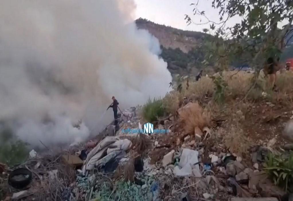 Ναύπακτος: Φωτιά κοντά στα ΚΤΕΛ Αιτωλοκαρνανίας