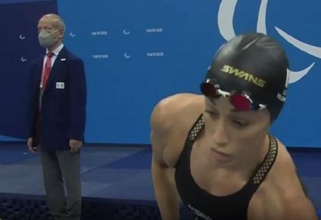 Παραολυμπιακοί Αγώνες: «Χάλκινη» στην κολύμβηση η Πελενδρίτου