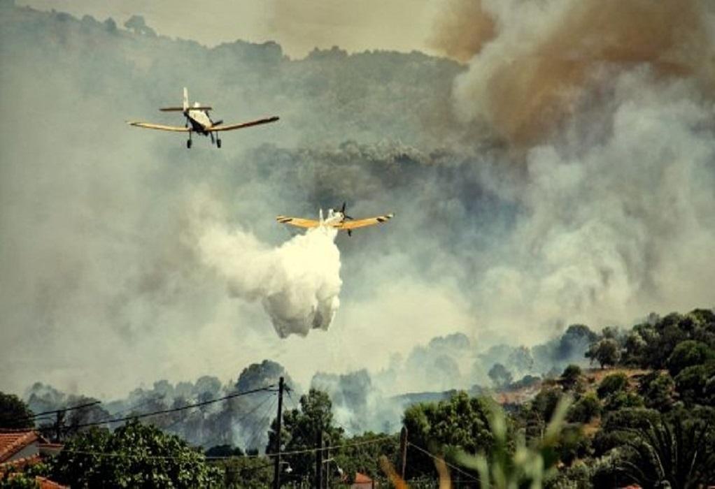 Έπεσε πυροσβεστικό αεροπλάνο – Σώος ο πιλότος (VIDEO)