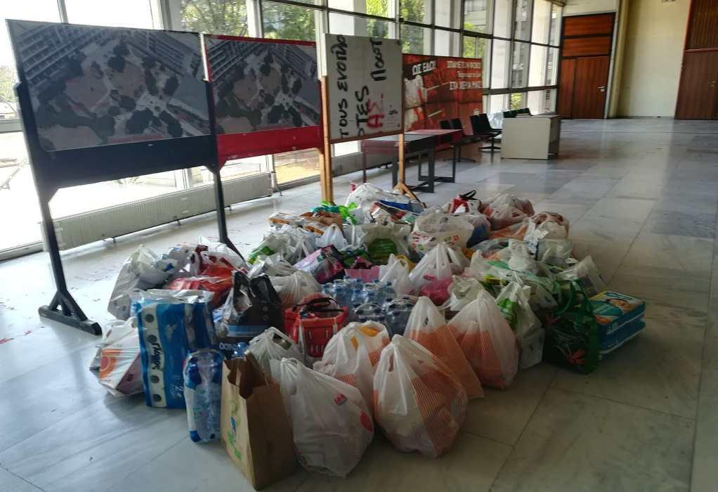 Συνεχίζεται και αύριο η συλλογή τροφίμων από τους φοιτητικούς συλλόγους του ΑΠΘ