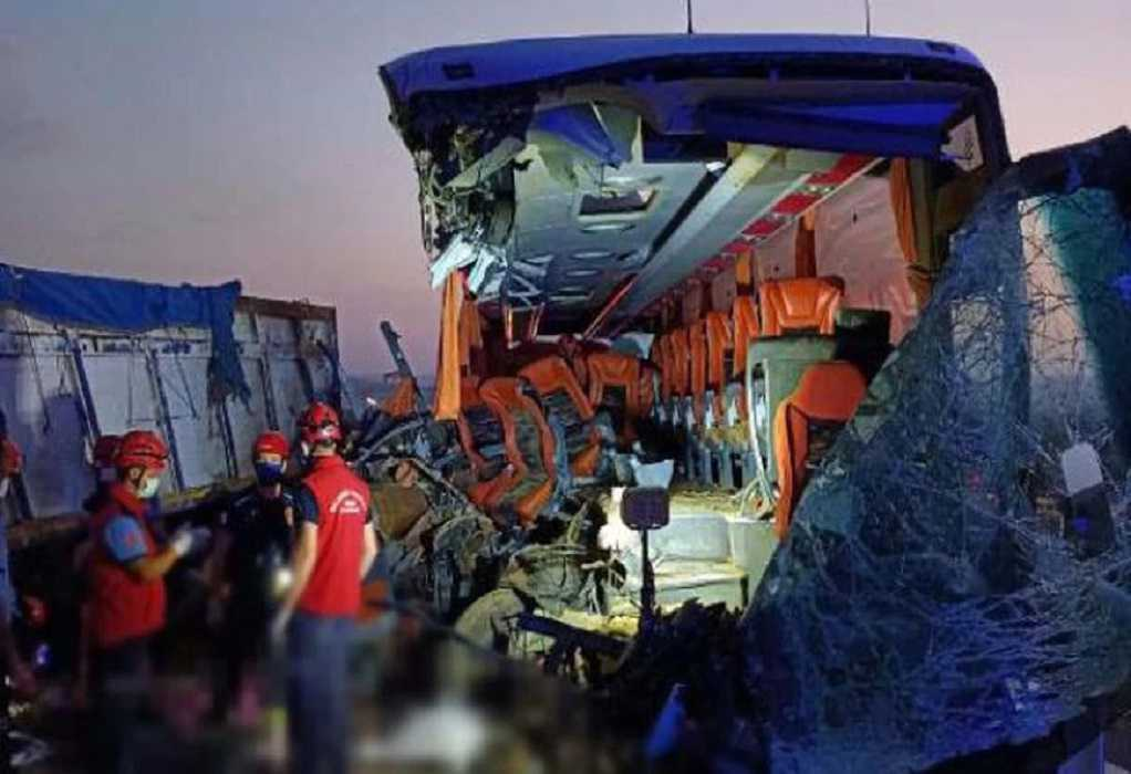 Σύγκρουση λεωφορείου με φορτηγό στην Τουρκία – 9 νεκροί