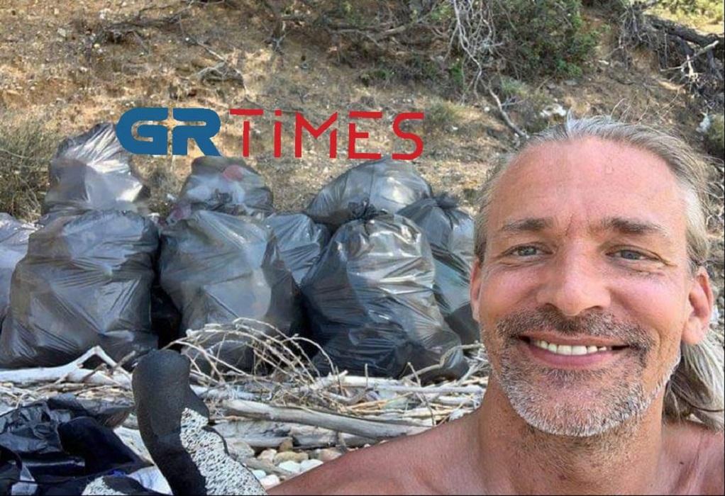 Τουρίστας σε GR TIMES: Γιατί μάζεψα τα σκουπίδια από τη Χαλκιδική (ΦΩΤΟ)