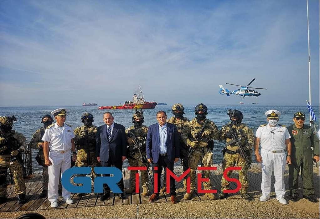 Θεσσαλονίκη: Επιχείρηση ανακατάληψης πλοίου μετά από τρομοκρατική επίθεση (VIDEO)