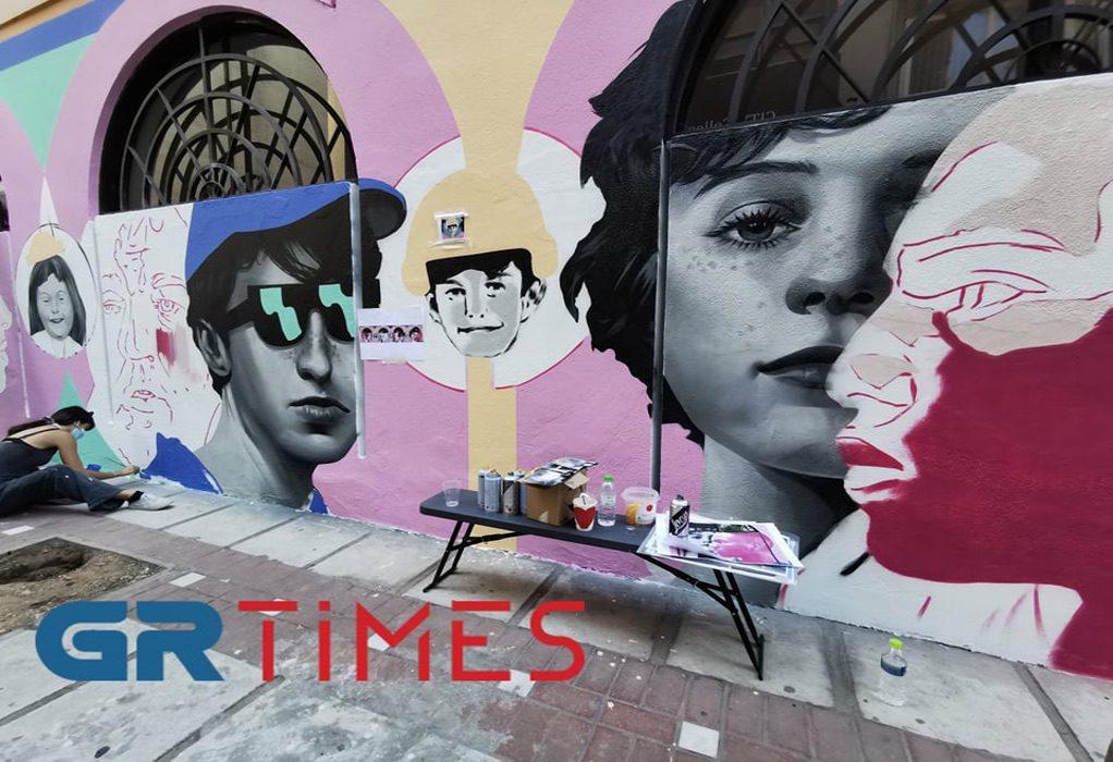 Θεσσαλονίκη: Νέοι δημιούργησαν τοιχογραφία εμπνευσμένη από την πανδημία (ΦΩΤΟ-VIDEO)