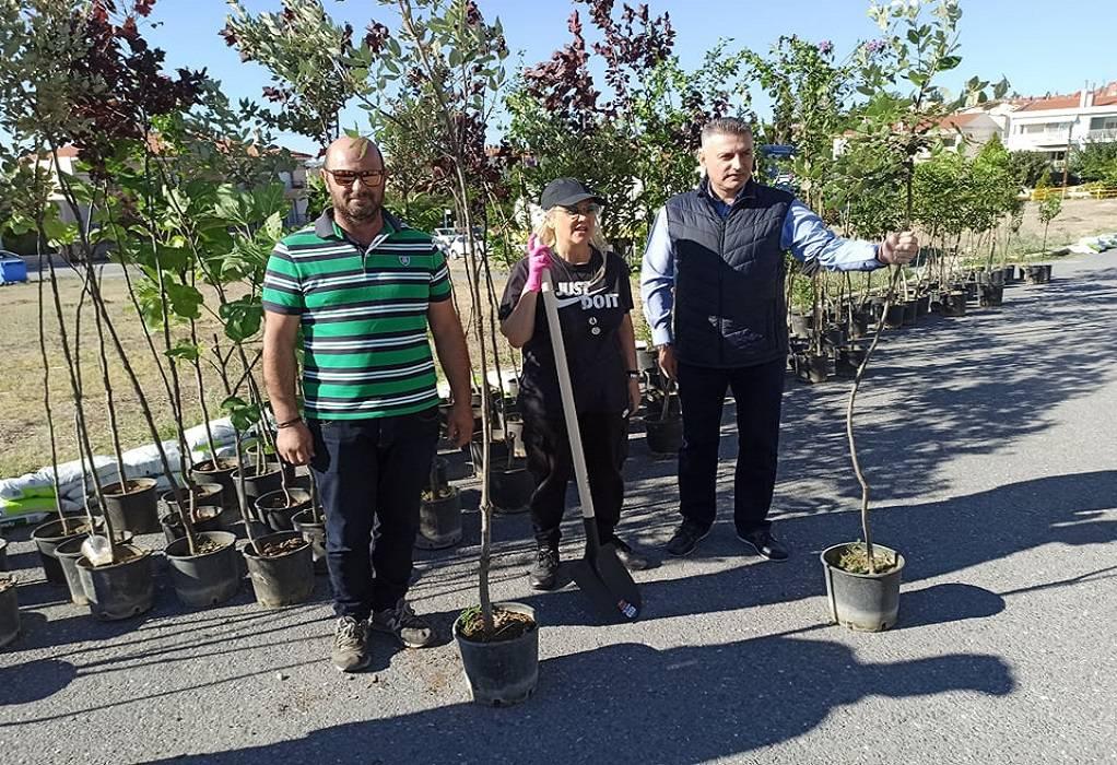 Δ. Ωραιοκάστρου: Οπωροφόρα δέντρα φυτεύτηκαν στα «Αλώνια»-Τους καρπούς θα απολαμβάνουν οι πολίτες
