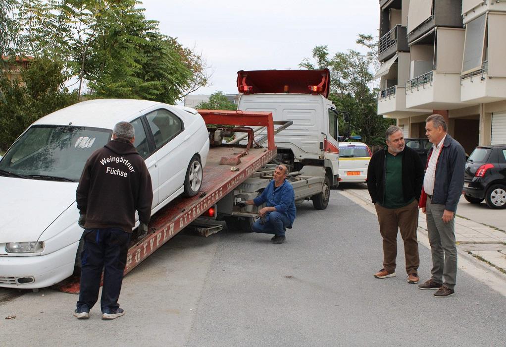 Δ. Κορδελιού-Ευόσμου:Επιχείρηση απομάκρυνσης εγκαταλελειμμένων οχημάτων