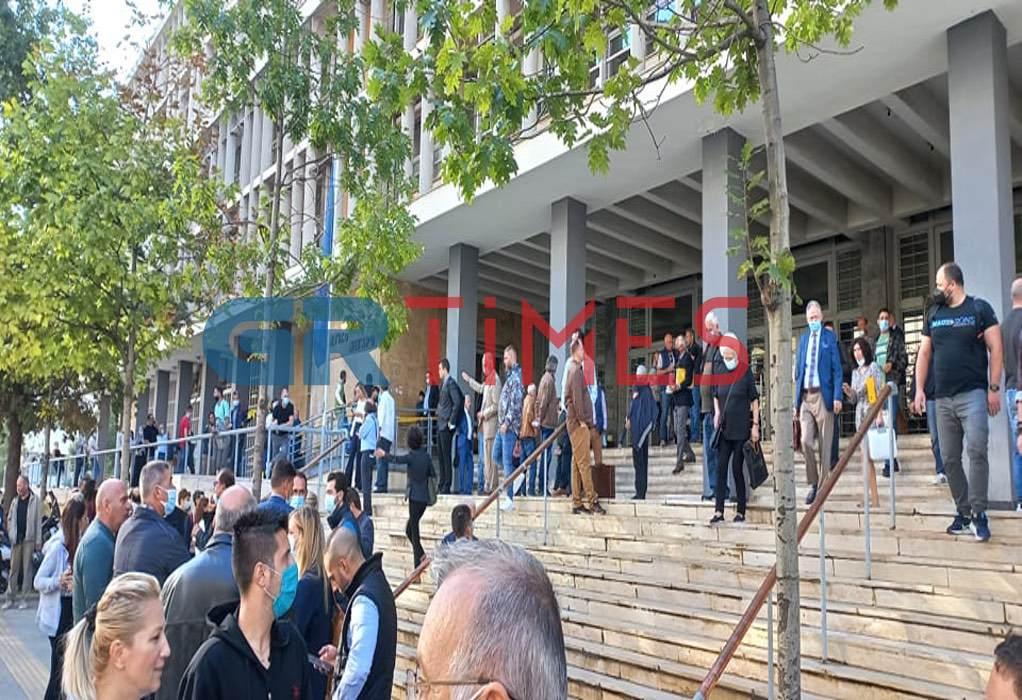 Θεσσαλονίκη: Εκκενώνονται τα Δικαστήρια μετά από τηλεφώνημα για τοποθέτηση βόμβας (ΦΩΤΟ)