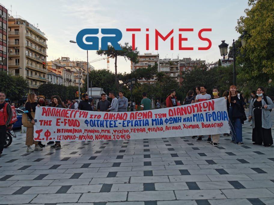 "Efood: Κόκκινο ποτάμι από μηχανάκια στο κέντρο της Θεσσαλονίκης – ""Βγήκαμε νικητές"" (ΦΩΤΟ-VIDEO)"