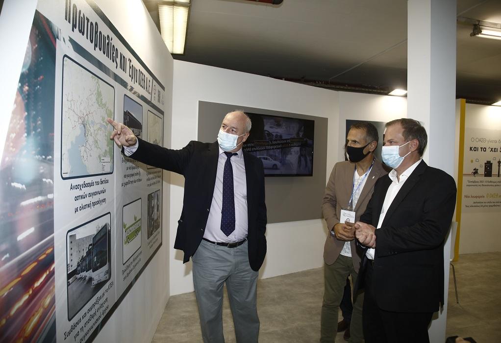 85η ΔΕΘ: Ο Υπουργός Υποδομών και Μεταφορών Κ. Καραμανλής στο περίπτερο του ΟΣΕΘ