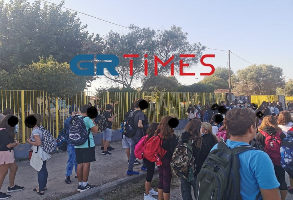 Θεσσαλονίκη: Αναστάτωση σε σχολείο υπό κατάληψη στη Θέρμη (ΦΩΤΟ-VIDEO)