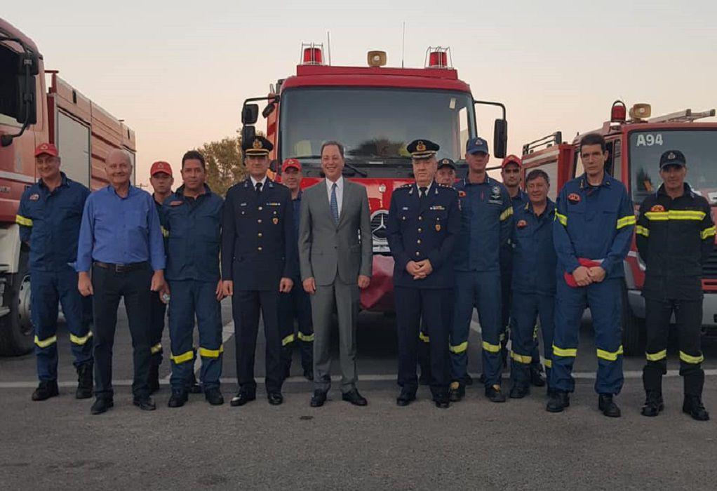 Επίσκεψη Σπ. Λιβανού στο νέο κτίριο διοίκησης των πυροσβεστικών υπηρεσιών Αιτωλοακαρνανίας