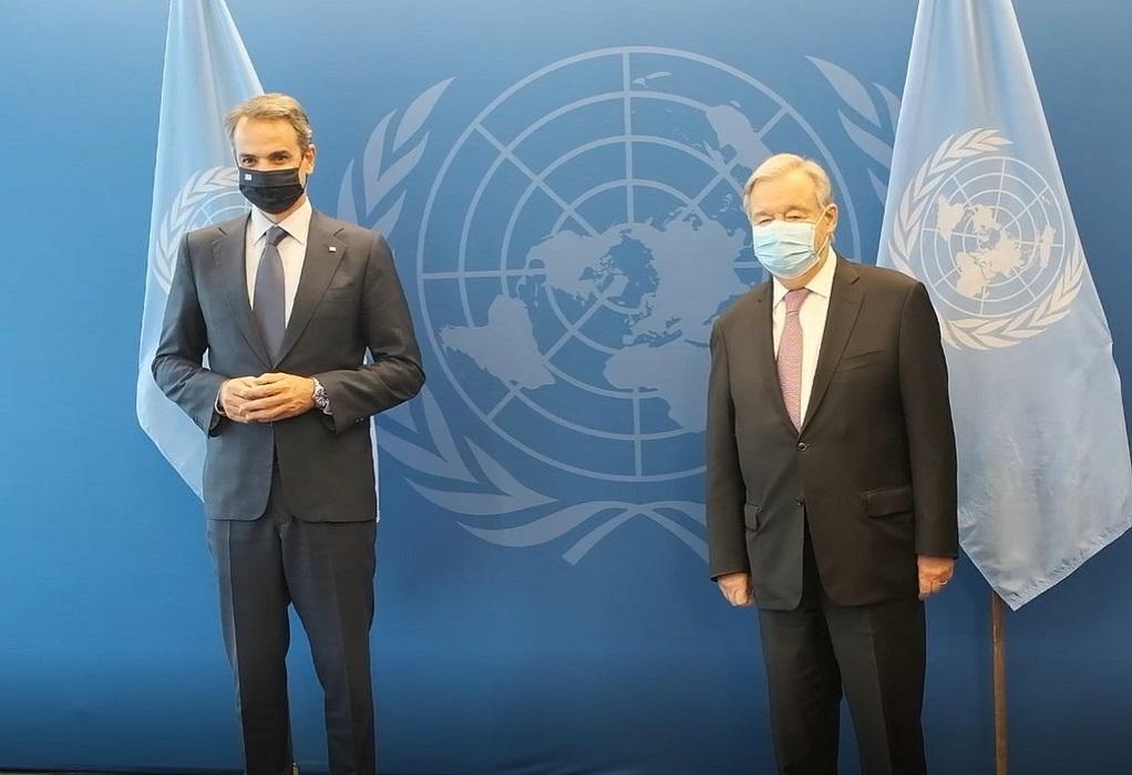 Πλούσια ατζέντα στη συνάντηση του πρωθυπουργού με τον γγ του ΟΗΕ (VIDEO)