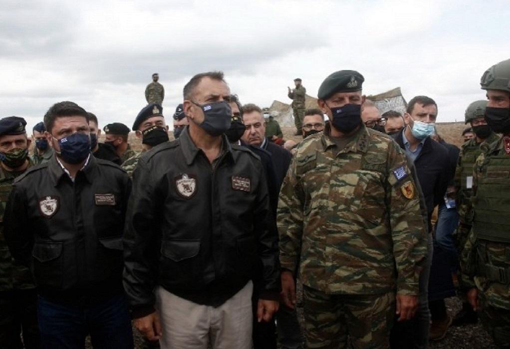 Παναγιωτόπουλος από Έβρο: Εξαιρετική επίδειξη της ισχύος πυρός η άσκηση «Παρμενίων»