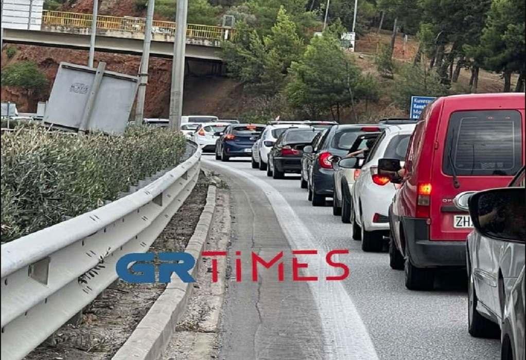 Θεσσαλονίκη: Κυκλοφοριακό κομφούζιο στην Περιφερειακή και στο δρόμο προς Περαία
