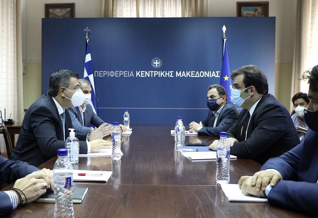 Συνάντηση του Α. Τζιτζικώστα με τον Υπ. Ψηφιακής Διακυβέρνησης Κ. Πιερρακάκη και τους Υφυπουργούς Γ. Γεωργαντά και Θ. Λιβάνιο