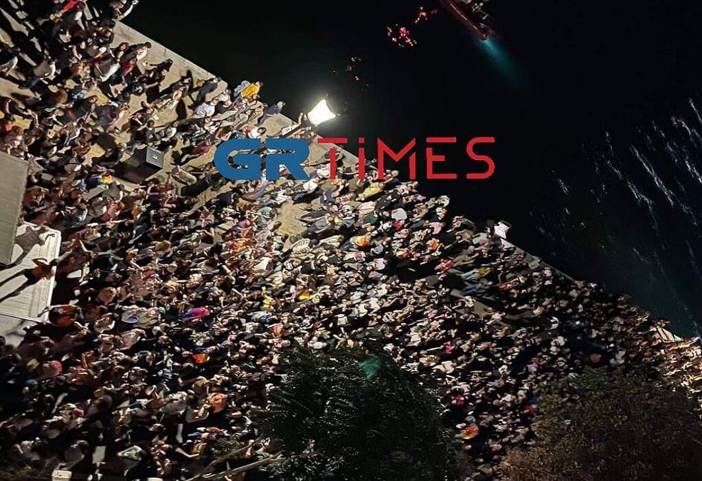"""9ο Thessaloniki Pride: Το πολύχρωμο """"ποτάμι"""" υπερηφάνειας από ψηλά (ΔΕΙΤΕ ΦΩΤΟ)"""