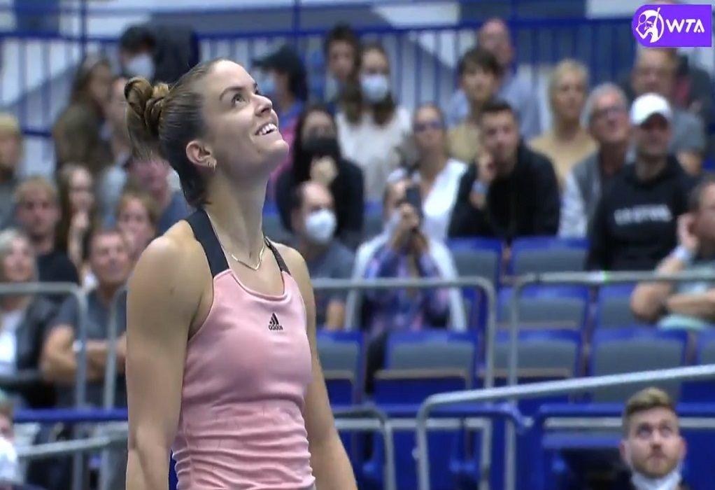 Σάκκαρη: Μία ανάσα από την παρουσία της στους τελικούς της WTA