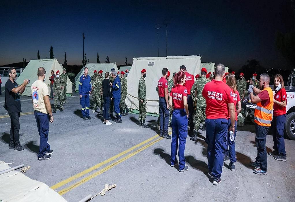 Σεισμός στο Ηράκλειο: Έστησαν Κέντρο Υγείας σε σκηνή του στρατού στο Αρκαλοχώρι