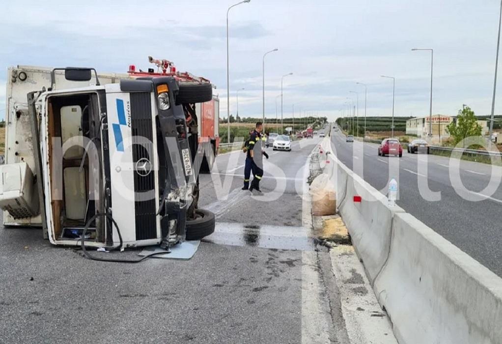 Χαλκιδική: Ένας τραυματίας μετά από ανατροπή φορτηγού στη Σωζόπολη-Κλειστή η Μουδανιών (ΦΩΤΟ-VIDEO)