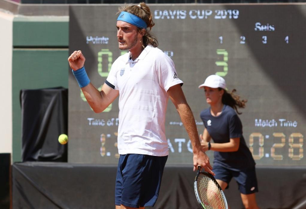 Ο Στέφανος Τσιτσιπάς στο Ηράκλειο ενόψει του Davis Cup