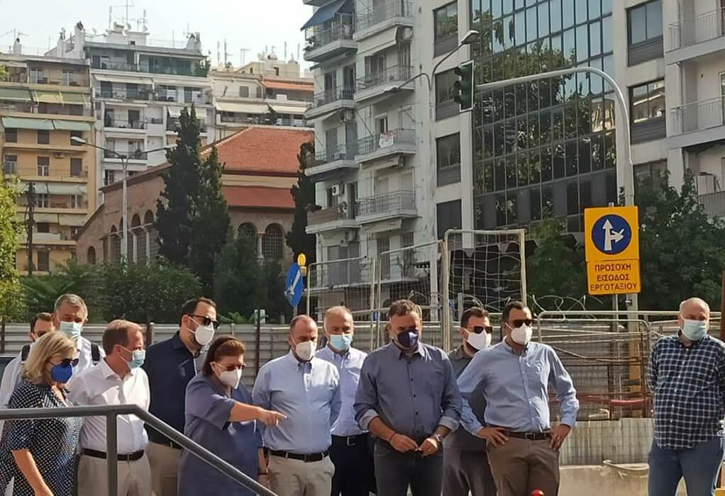 """Μετρό- """"Αγία Σοφία"""": Επίσκεψη κυβερνητικού κλιμακίου στο σταθμό"""