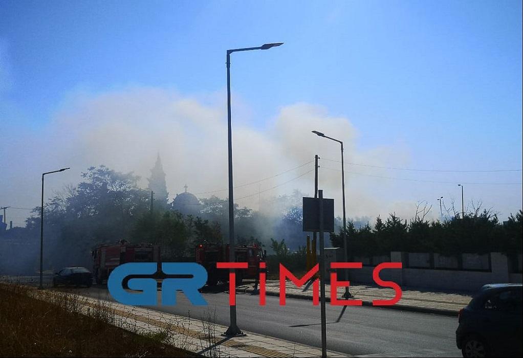 Θεσσαλονίκη: Φωτιά στην περιοχή Αλλατίνη στη Χαριλάου(ΦΩΤΟ-VIDEO)