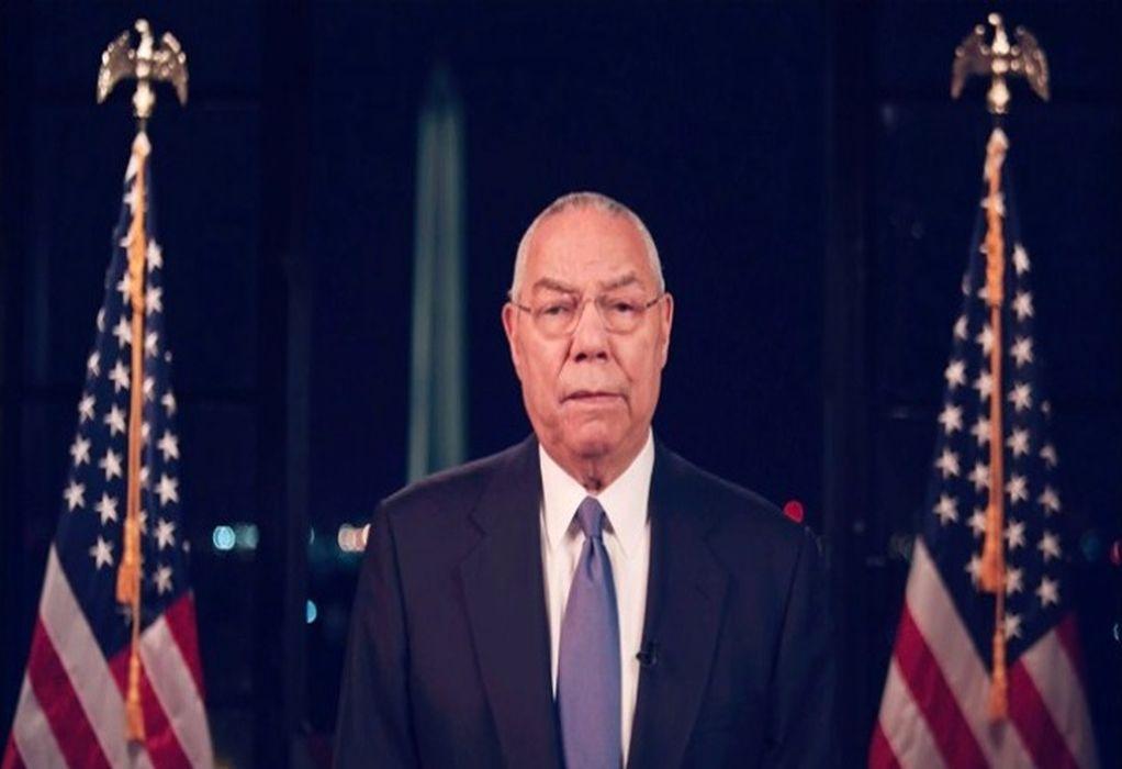 ΗΠΑ: Νεκρός από κορωνοϊό ο πρώην υπουργός Εξωτερικών, Κόλιν Πάουελ