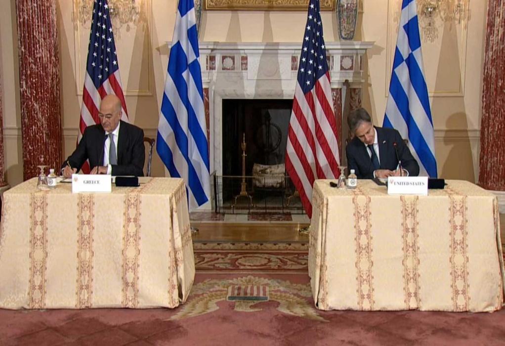 Αμυντική συμφωνία Ελλάδας – ΗΠΑ: «Έπεσαν» οι υπογραφές Νίκου Δένδια και Άντονι Μπλίνκεν