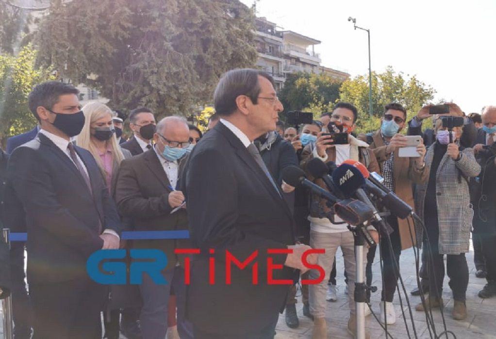 N. Αναστασιάδης: Θα συνεχίσω να αγωνίζομαι για την ειρηνική επίλυση του Κυπριακού προβλήματος (VIDEO)