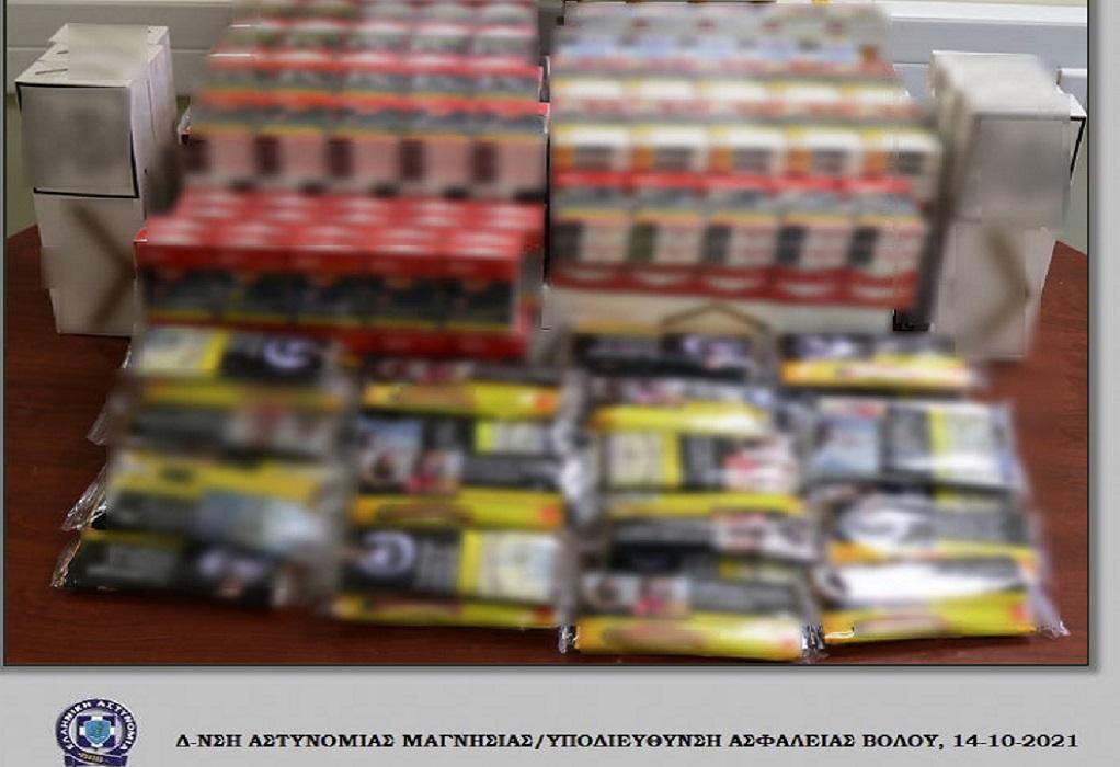 Βόλος: Συνελήφθη με αφορολόγητα τσιγάρα και καπνό (ΦΩΤΟ)
