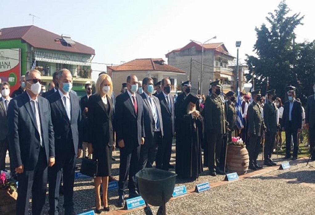 Με λαμπρότητα αλλά χωρίς παρέλαση ο εορτασμός της επετείου απελευθέρωσης των Γιαννιτσών (ΦΩΤΟ)