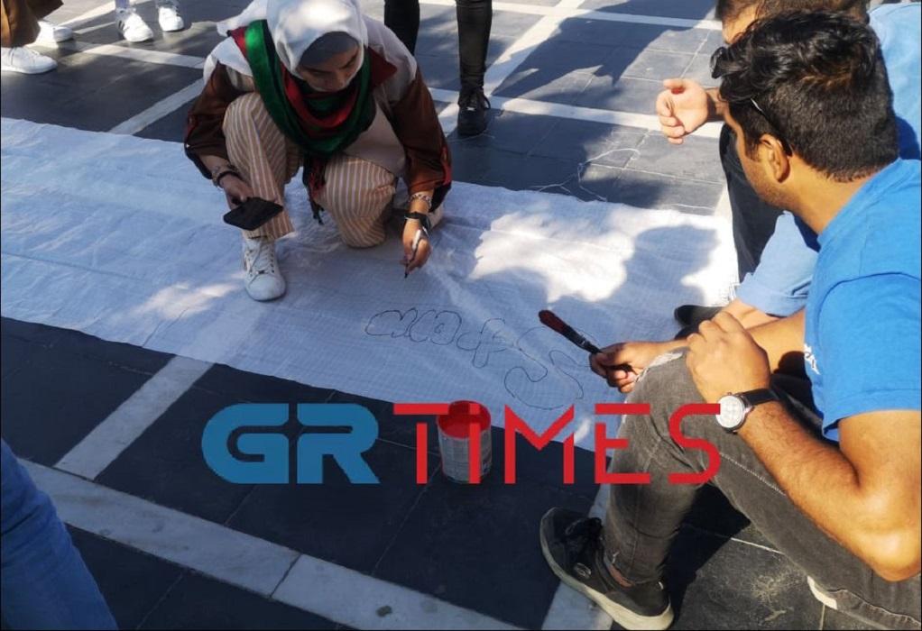 Διαμαρτυρία Αφγανών προσφύγων στο άγαλμα Βενιζέλου (ΦΩΤΟ-VIDEO)