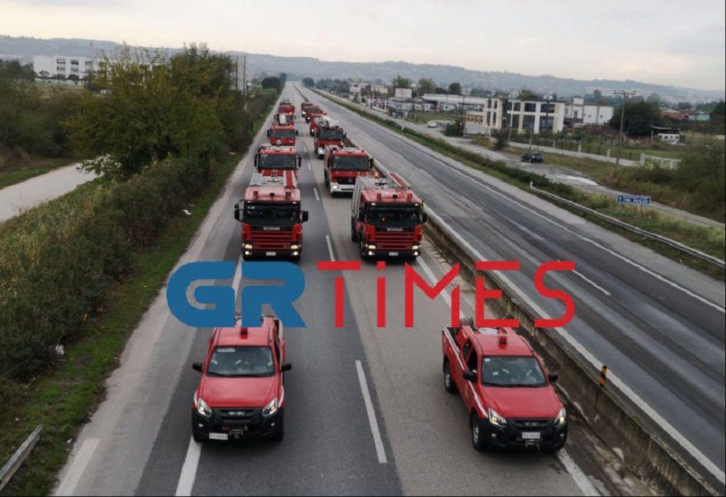 Η ΕΛ.ΑΣ και η Πυροσβεστική στη δοκιμαστική παρέλαση (VIDEO)