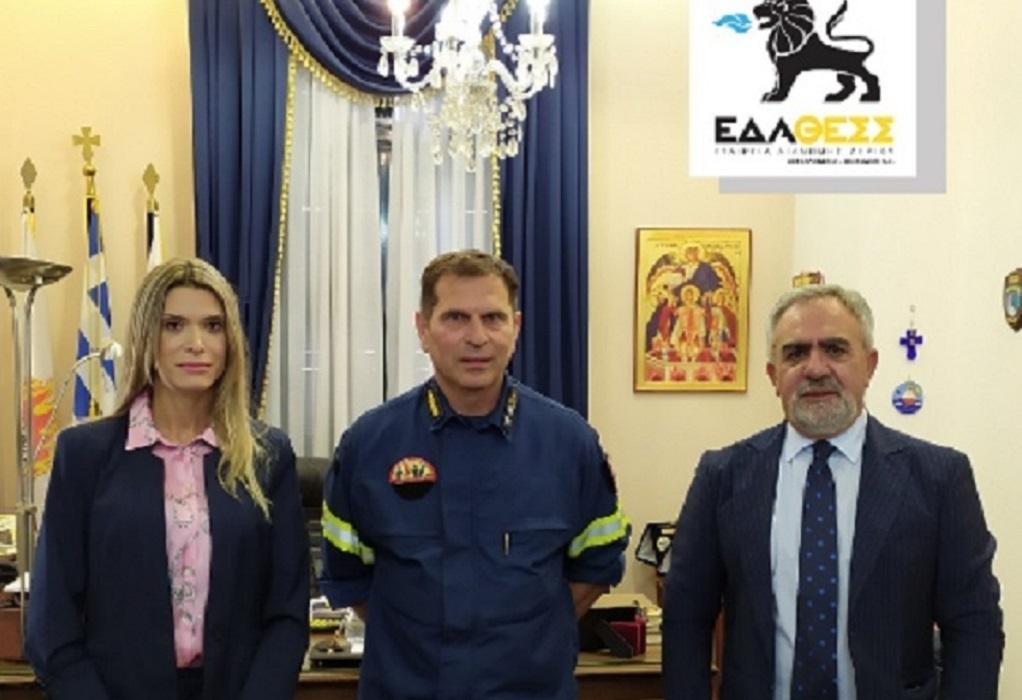 Συνεργασία της ΕΔΑ ΘΕΣΣ με το Πυροσβεστικό Σώμα Θεσσαλονίκης