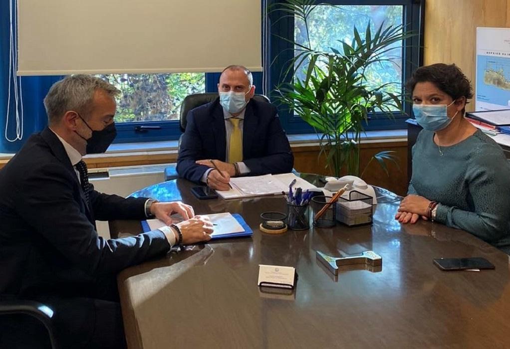 Συνάντηση Ζέρβα με τον υφυπουργό Υποδομών