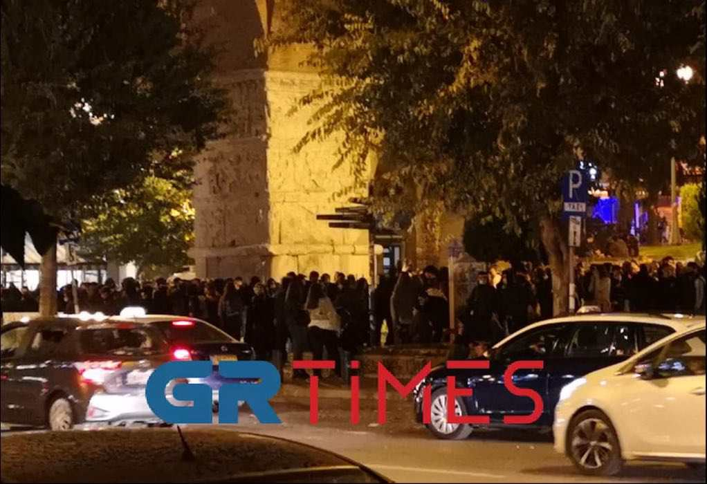Θεσσαλονίκη: Συγκέντρωση και πορεία αντιεξουσιαστών στην Καμάρα (ΦΩΤΟ)