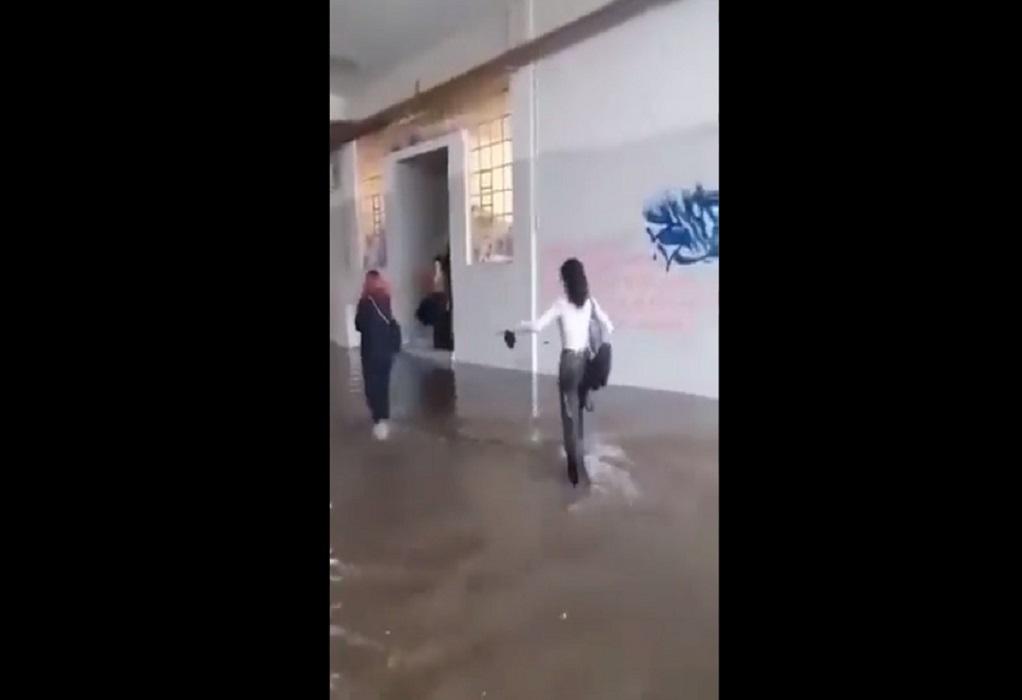 Αθήνα: Πλημμύρισε η Σχολή Καλών Τεχνών – Νερά πέφτουν από το ταβάνι της Φιλοσοφικής (VIDEO)