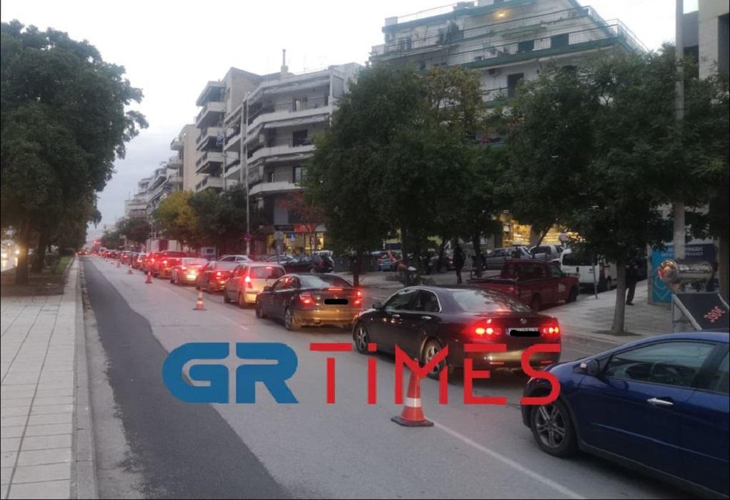 """Θεσσαλονίκη: Μποτιλιάρισμα με το """"καλημέρα"""" στην Κ. Καραμανλή (VIDEO)"""