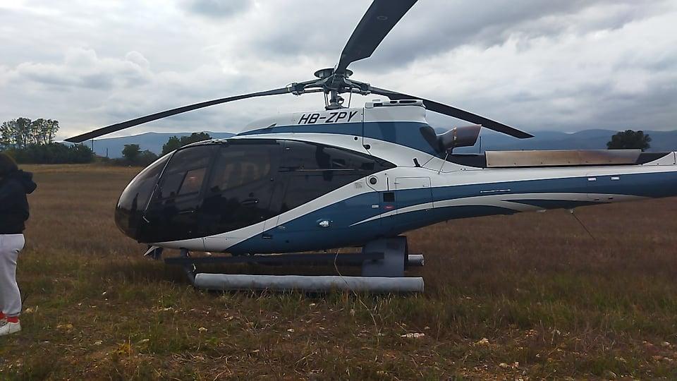 Κοζάνη: Αναγκαστική προσγείωση ελικοπτέρου σε χωράφι (ΦΩΤΟ-VIDEO)
