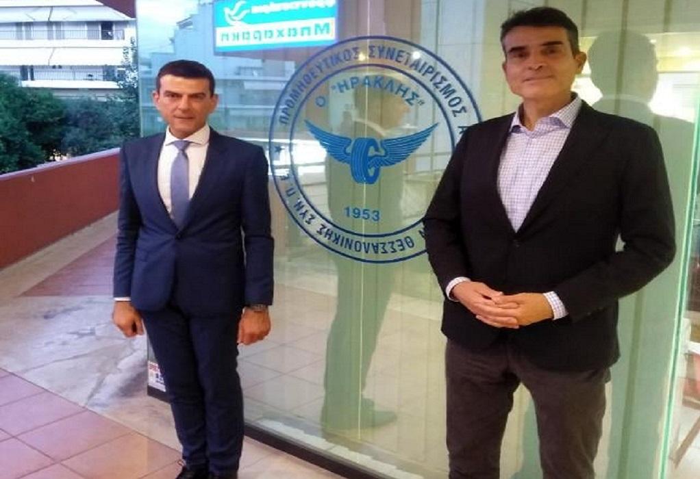 Θεσσαλονίκη: Στα γραφεία του Ηρακλή ΣΥΝ.Π.Ε ο Δημήτρης Κούβελας