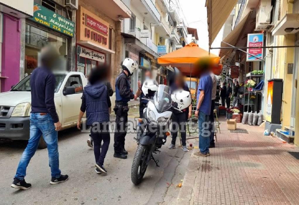 Πιάστηκαν στα χέρια σε λαϊκή αγορά στη Λαμία