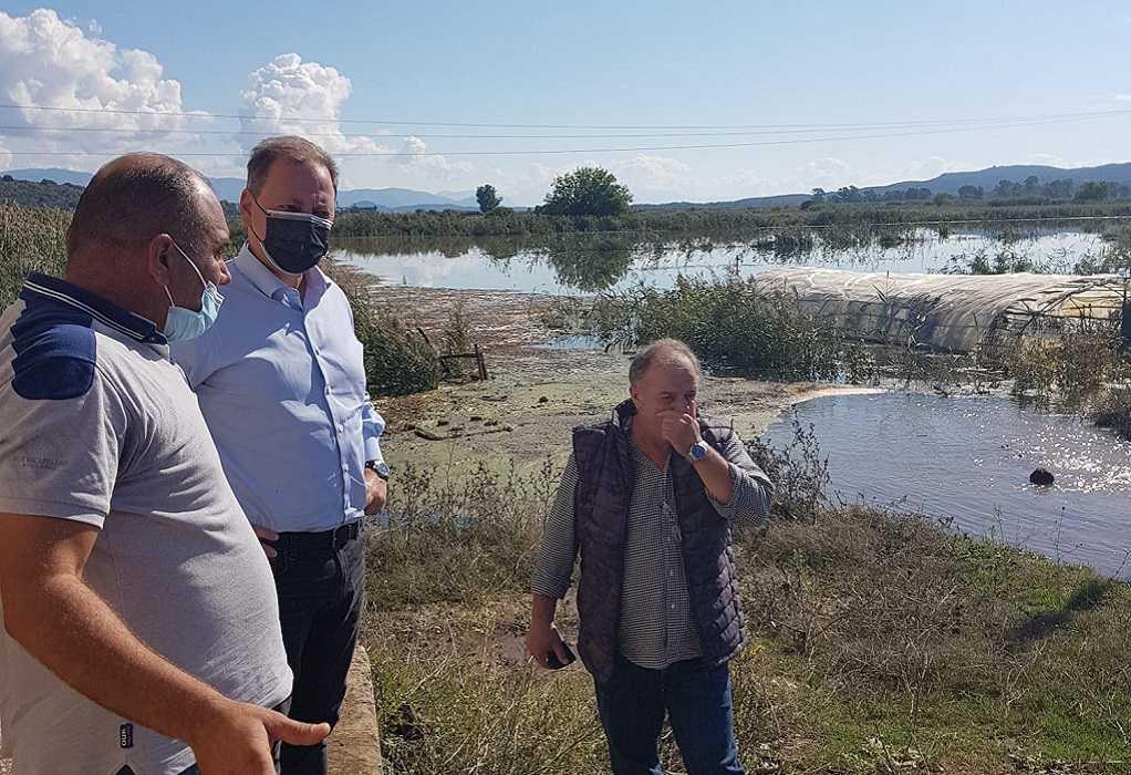Τις πληγείσες περιοχές της Αιτωλοακαρνανίας επισκέφθηκε ο Σπ. Λιβανός