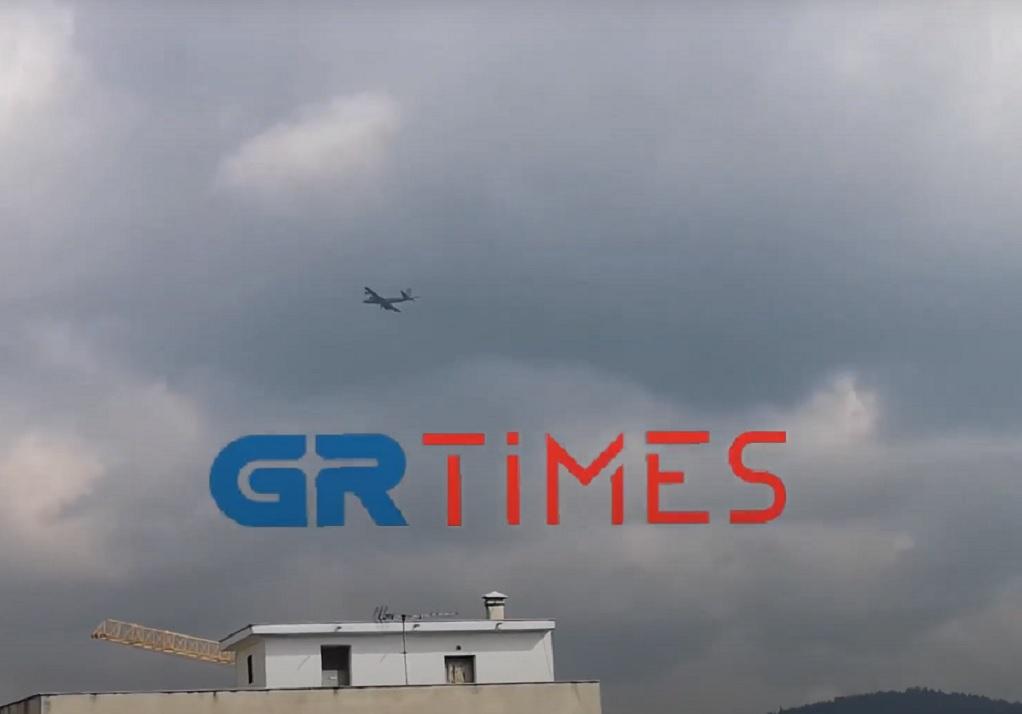Πτήσεις μαχητικών αεροσκαφών πάνω από τη Θεσσαλονίκη (VIDEO)