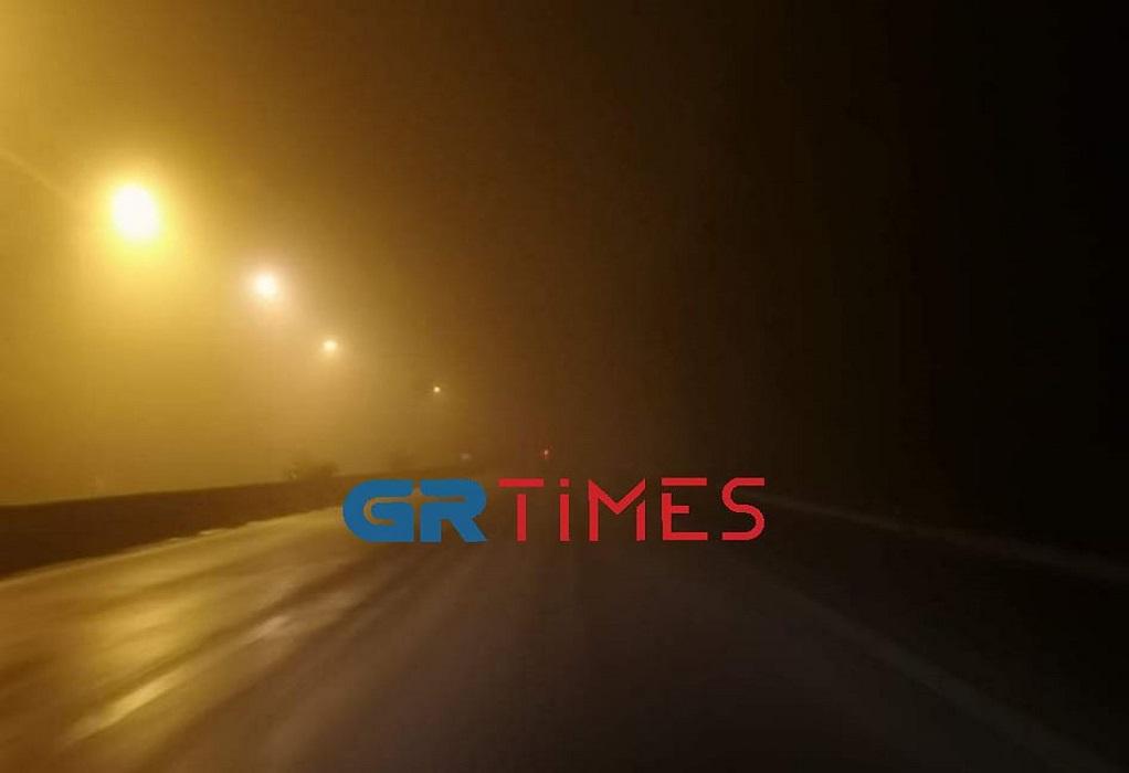 Ορατότης «μηδέν» λόγω ομίχλης στην ΕΟ Θεσσαλονίκης–Μουδανιών