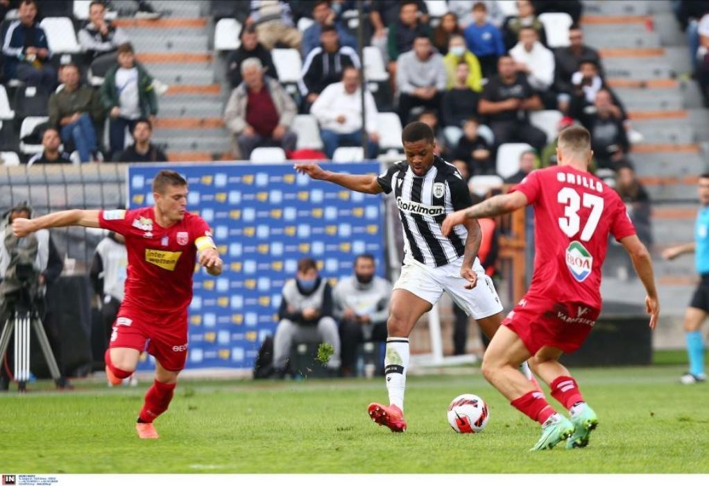 Ματς ροντέο στη Τούμπα, χορταστική ισοπαλία 4-4 για ΠΑΟΚ και Βόλο