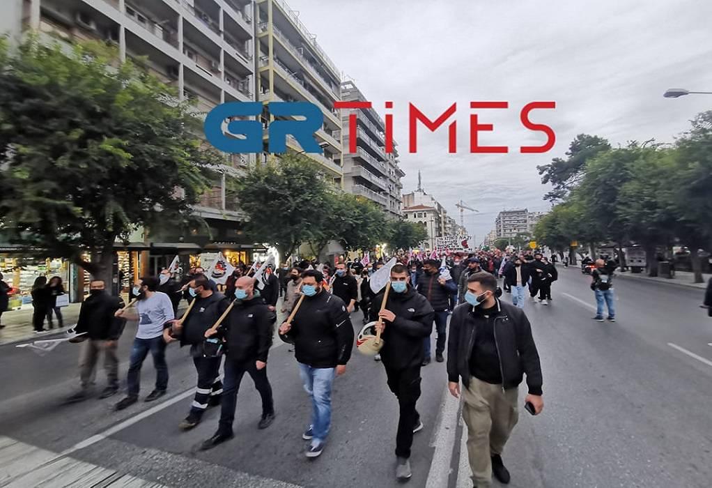 Θεσσαλονίκη: Aντιφασιστική πορεία στο κέντρο της πόλης (ΦΩΤΟ-VIDEO)