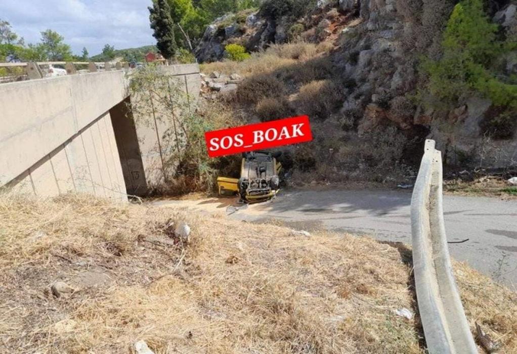 Ρέθυμνο: Ι.Χ έπεσε από γέφυρα 5 μέτρων – Νεκρός 56χρονος (ΦΩΤΟ)