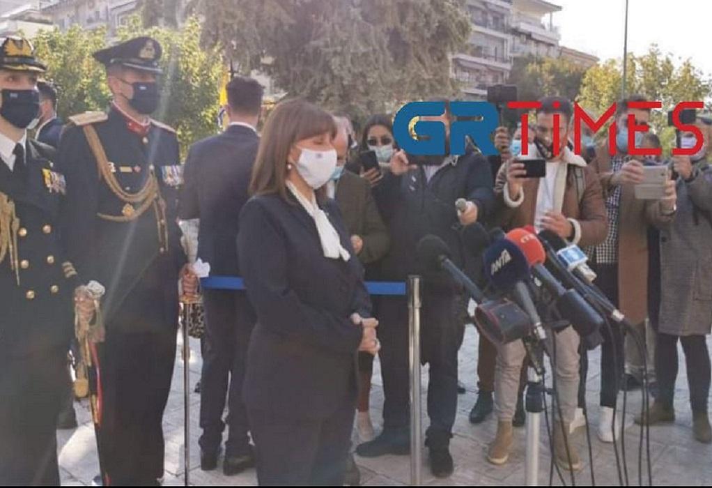 Σακελλαροπούλου: Ριζωμένη στην ιστορία η σχέση της Θεσσαλονίκης με τον πολιούχο της (VIDEO)